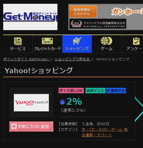 Yahoo!ショッピング ポイントサイト